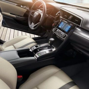 2018 Honda Civic Touring Interior Beige