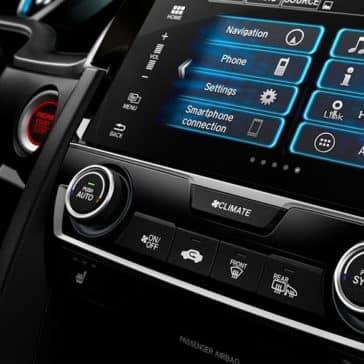 2018 Honda Civic Touring Infotainment Screen