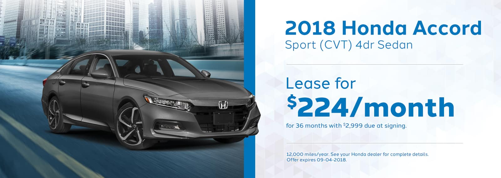 Accord Sport Genthe Honda Lease special