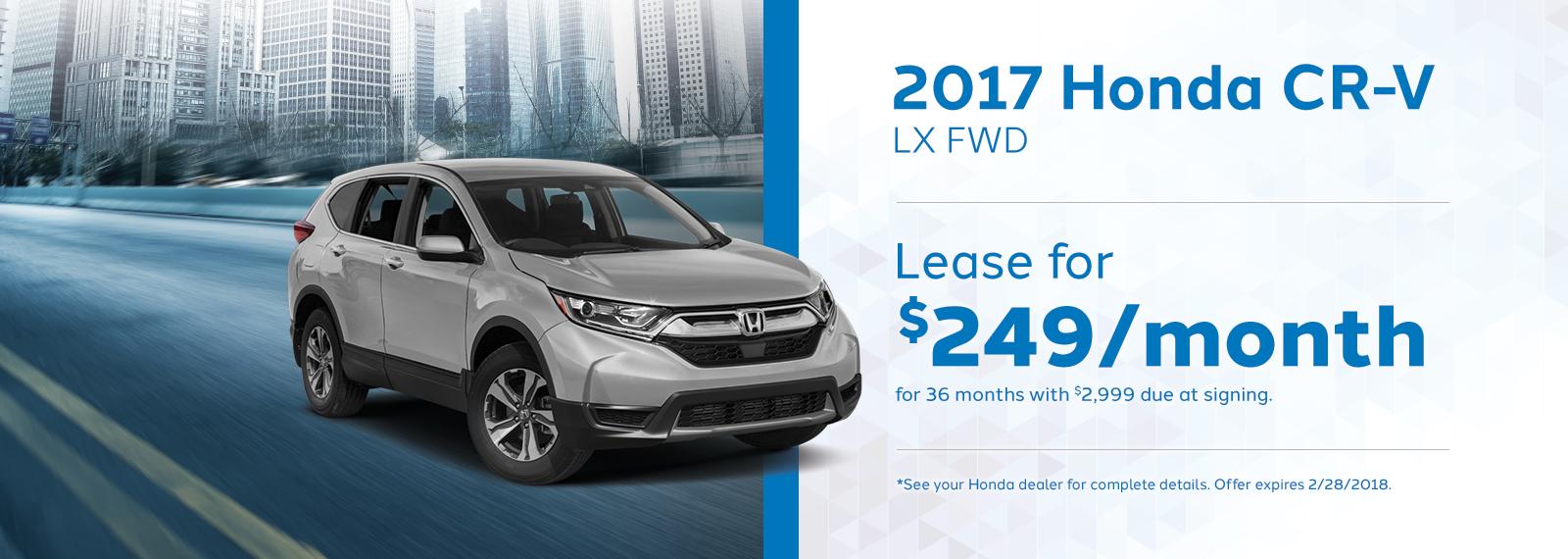 2017 Honda CRV Lease Offer February