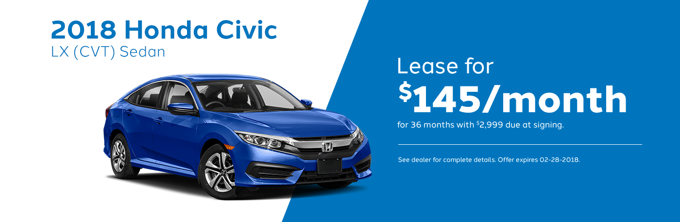 2018 Honda Civic Lease Offer February