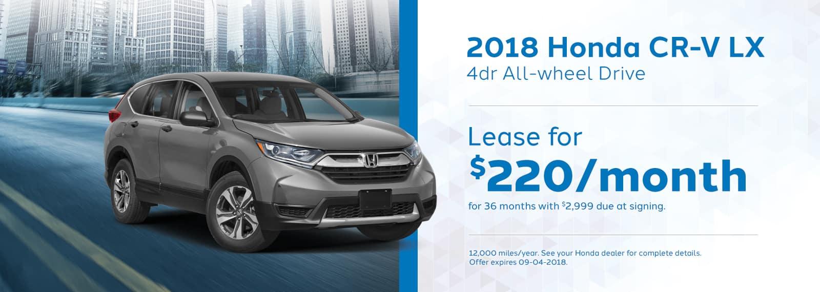 CRV Genthe Honda Lease special 2018-Honda-CR-V-