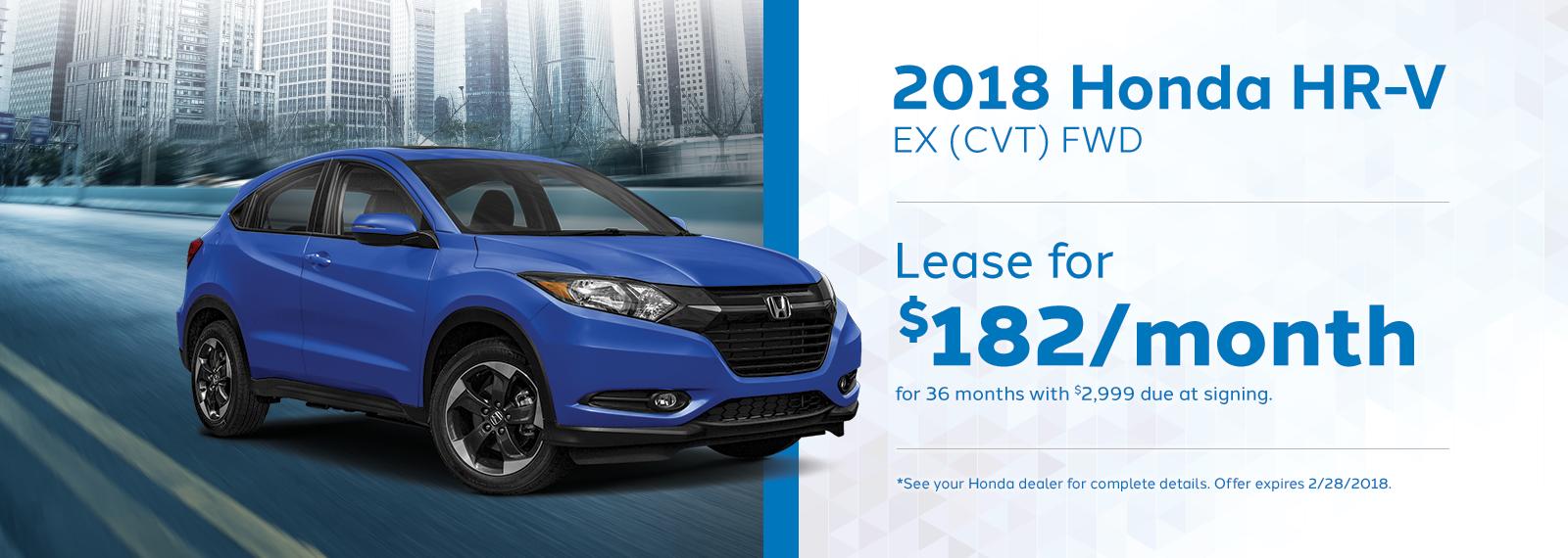 2018 Honda HRV Lease Offer February