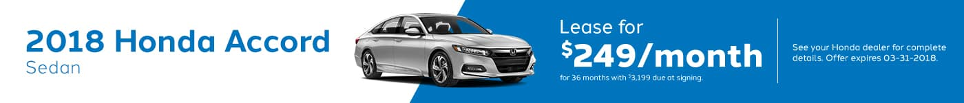 Accord Sedan March Offer Genthe Honda
