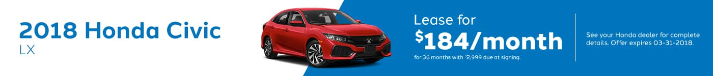 Civic LX March Offer Genthe Honda