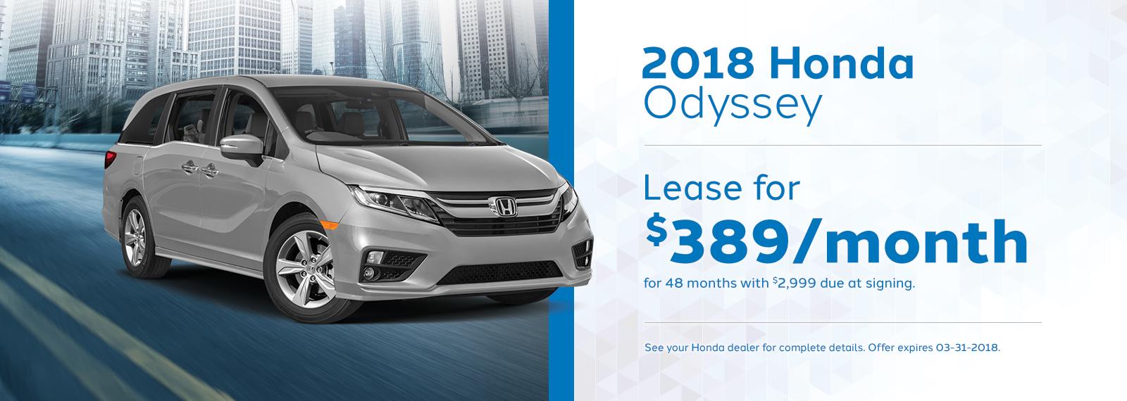 Odyssey March Offer Genthe Honda Homepage.