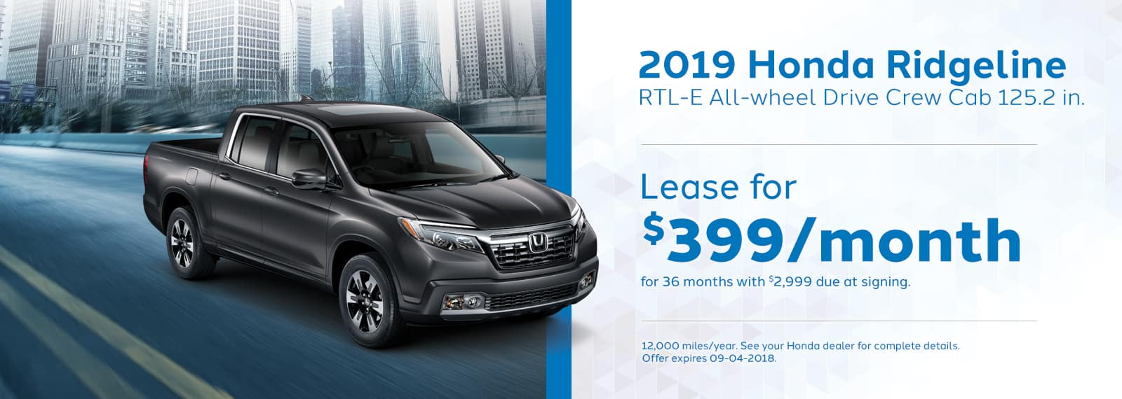Ridgeline Genthe Honda Lease special