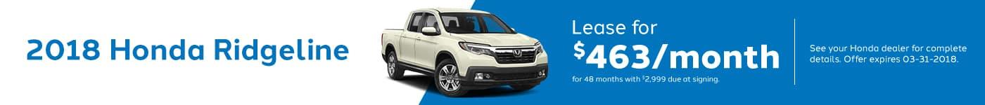 Ridgeline March Offer Genthe Honda