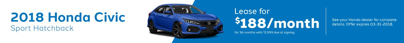 civichatchback March Offer Genthe Honda