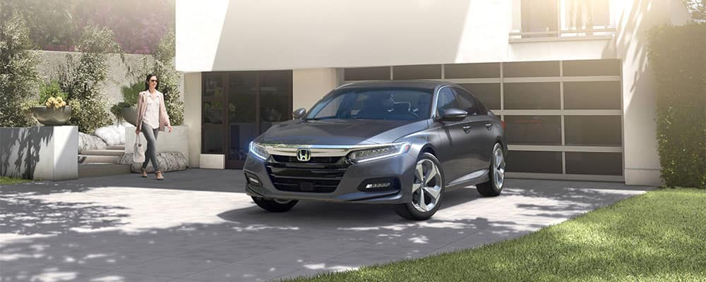 2018 Honda Accord by the Garage