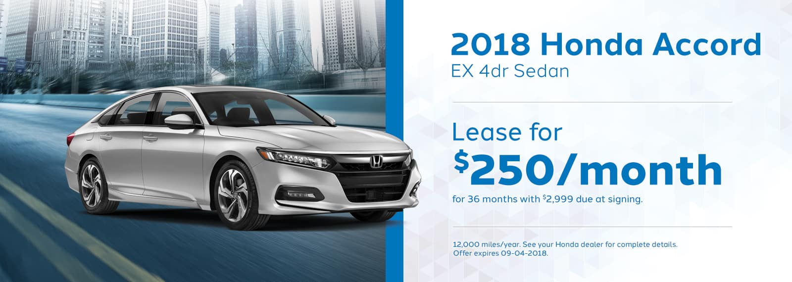 Accord Genthe Honda Lease special