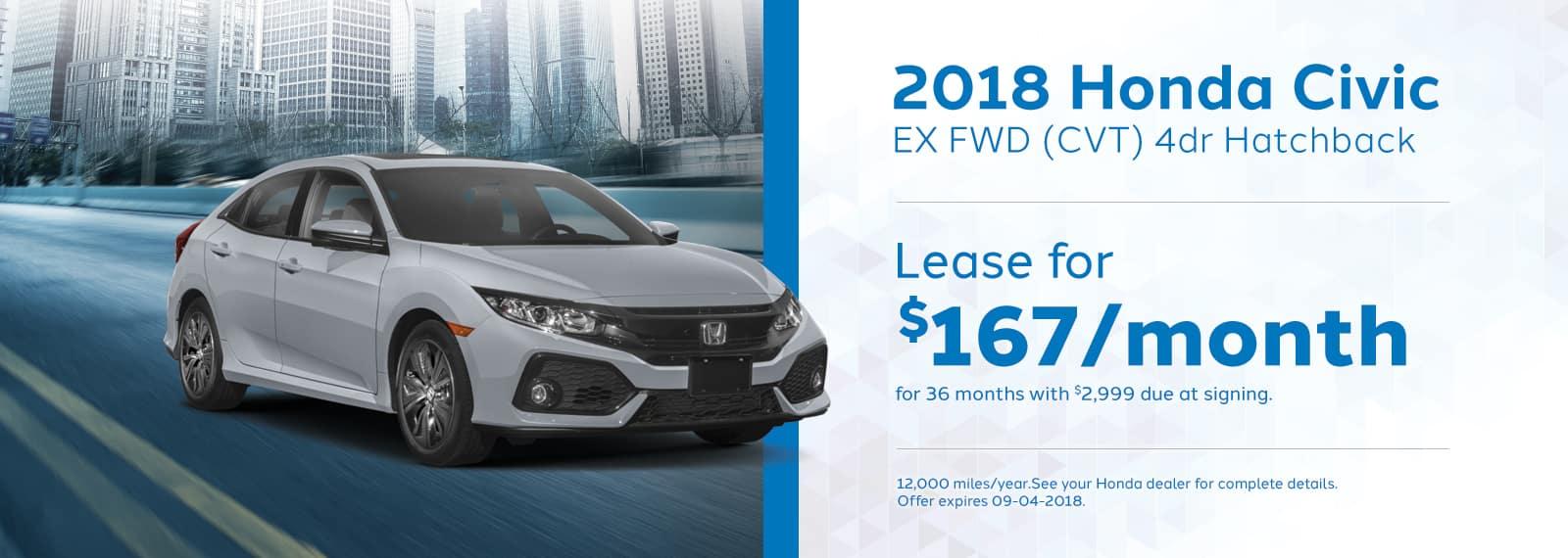 Civic EX Genthe Honda Lease special