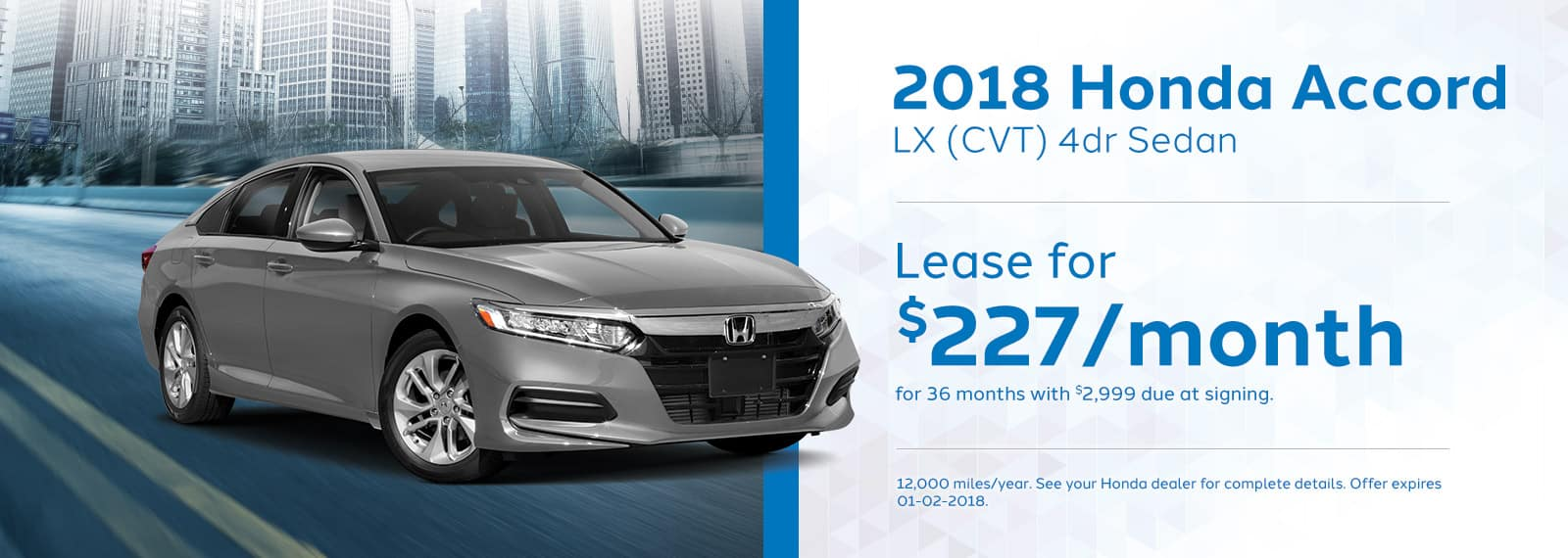 Genthe Honda Homepage Lease Offer Banner Accord-LX