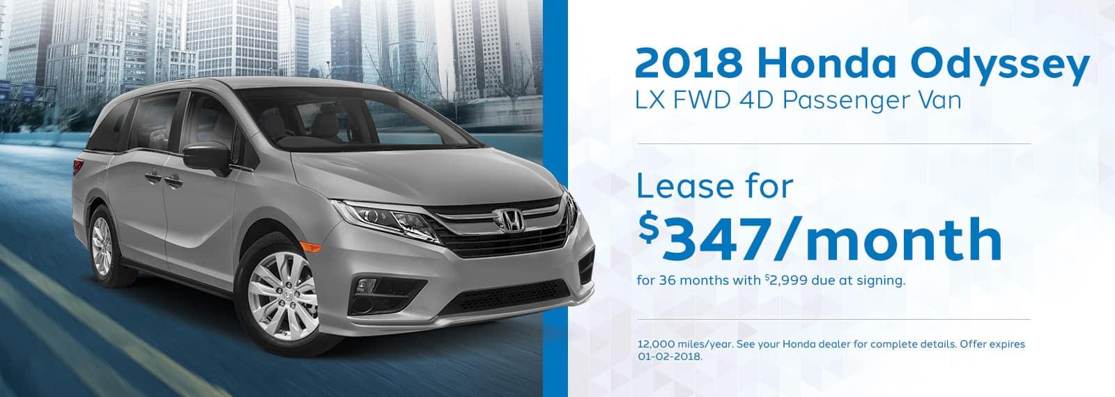 Genthe Honda Homepage Lease Offer Banner Odyssey