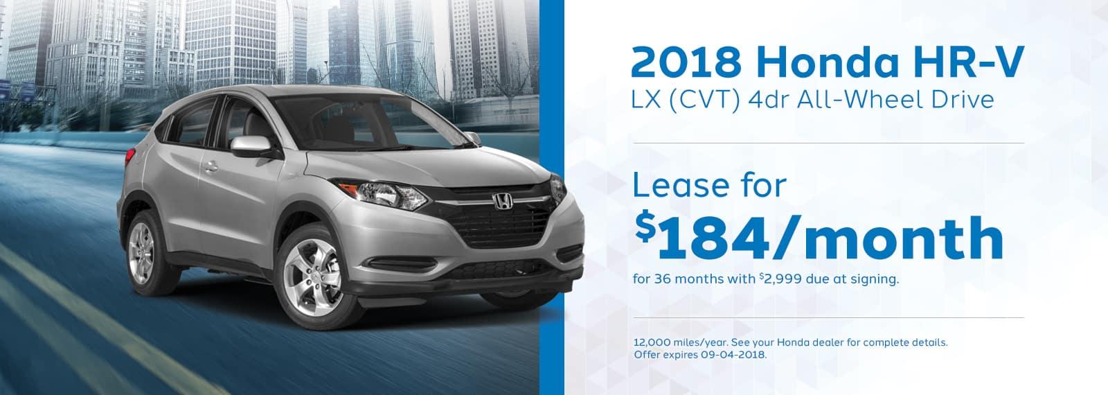 HRV Genthe Honda Lease special 2018-Honda-HR-V-LX
