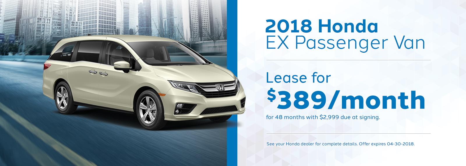 Odyssey ex April Offer Genthe Honda