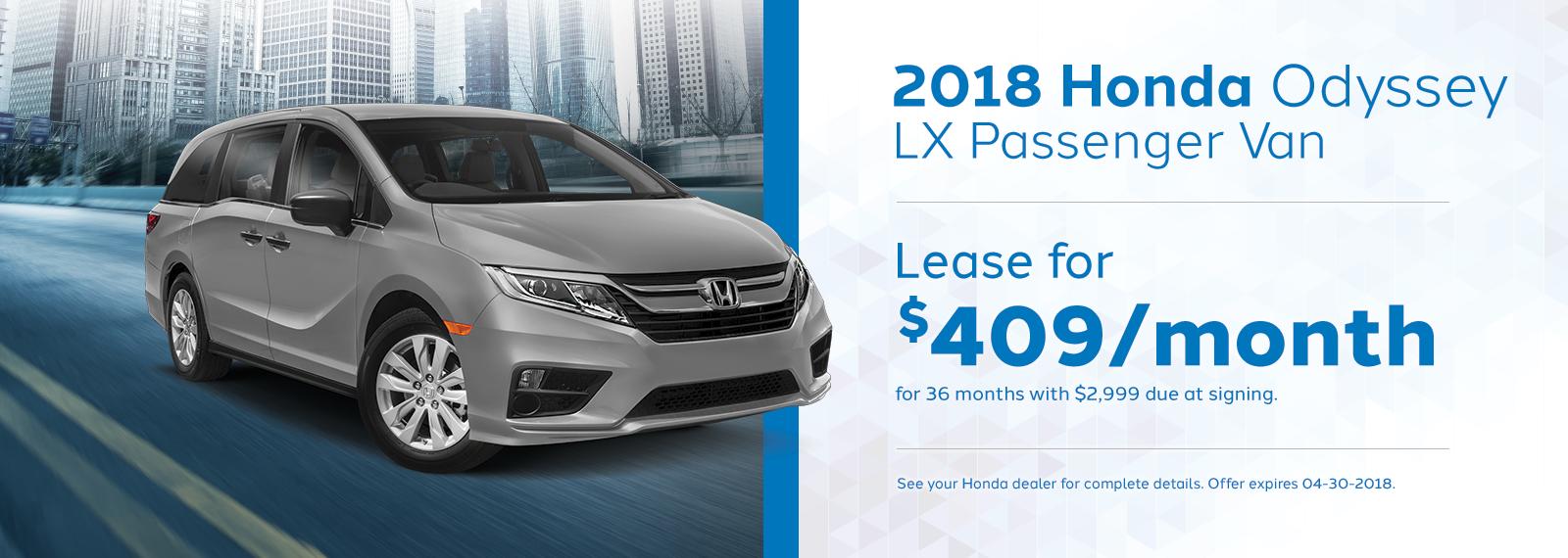 Odyssey lx April Offer Genthe Honda