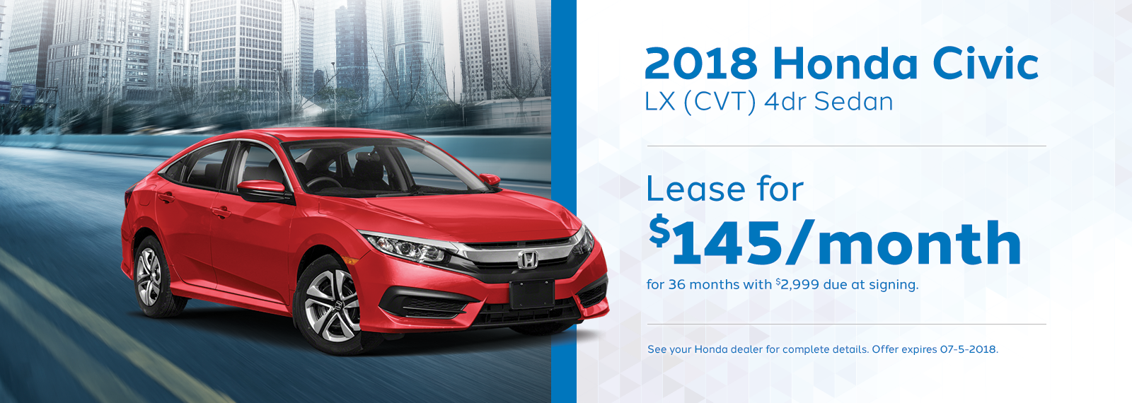 civic Genthe Honda Lease Offer Homepage