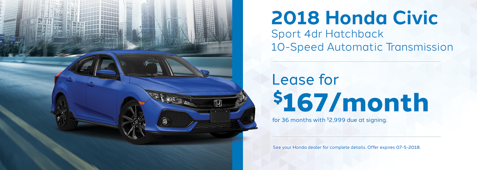 civichatch Genthe Honda Lease Offer Homepage