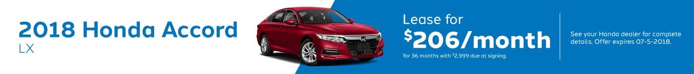 Accord Genthe Honda May Offer