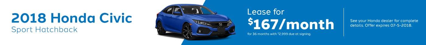 Civichatchback Genthe Honda May Offer