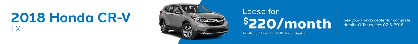 Crv Genthe Honda May Offer