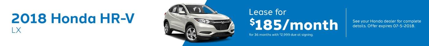 HRV Genthe Honda May Offer