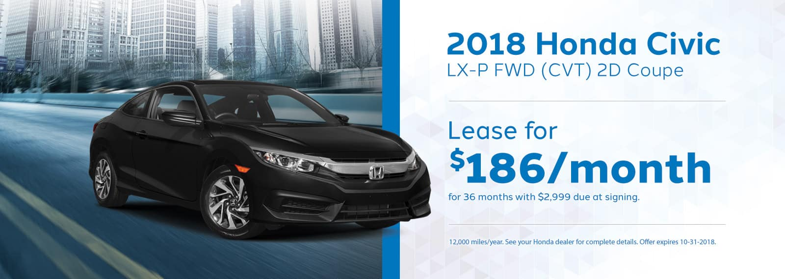 Civic Coupe Genthe Honda Lease Offer September 2018 Homepage