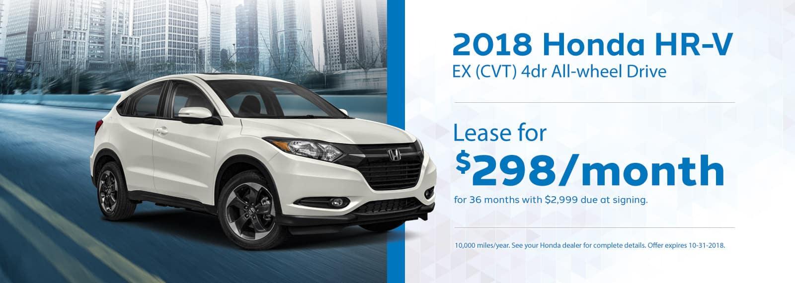 HRV Genthe Honda Lease Offer September 2018 Homepage