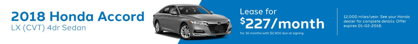 Genthe Honda SRP Banner Lease Offer Accord-LX