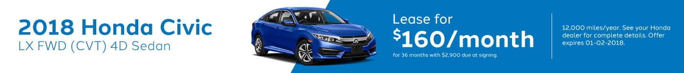 Genthe Honda SRP Banner Lease Offer Civic-LX-Sedan
