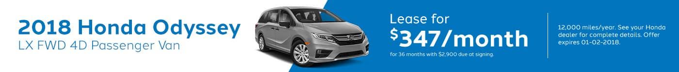 Genthe Honda SRP Banner Lease Offer Odyssey