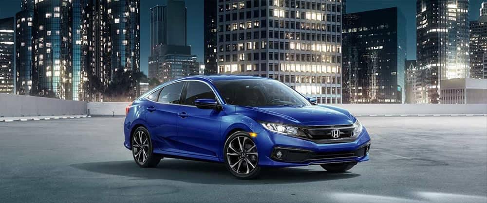 2019 Honda Civic blue exterior