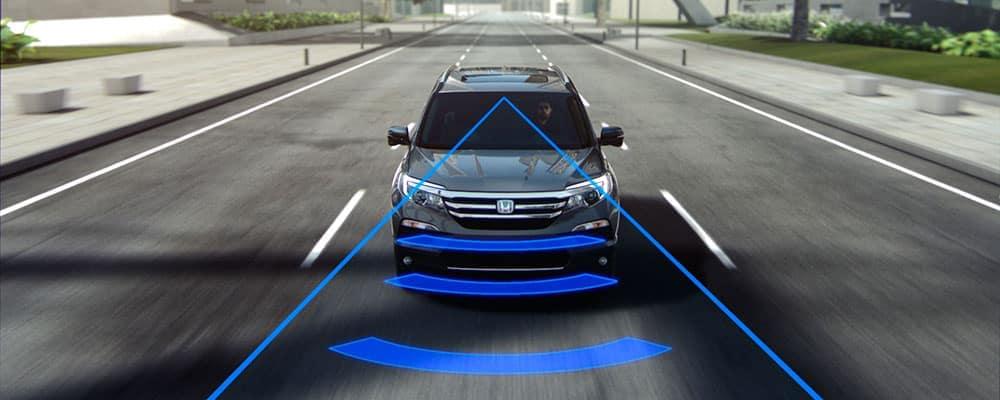 Honda CR-V using Forward Collision Warning system