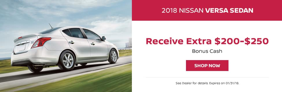 Nissan Versa January Bonus Cash