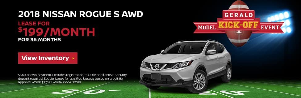 Nissan Rogue Kick-off offer