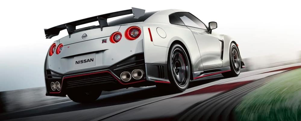 2019 Nissan GTR on a racetrack