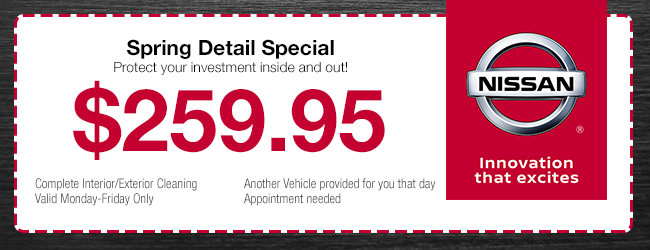 spring detail special coupon