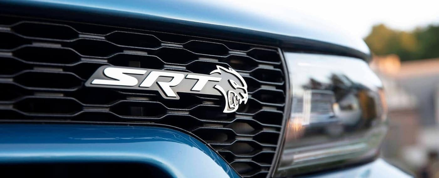 2020 Dodge Charger SRT grille close up