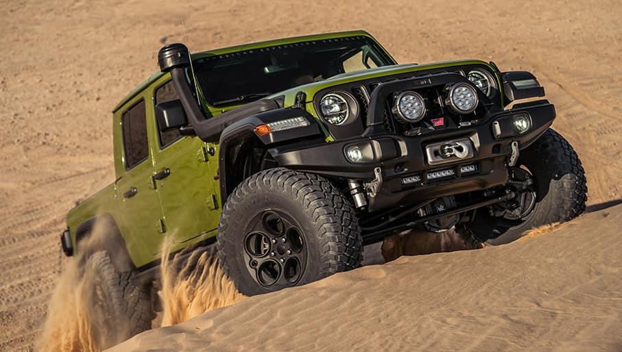 gladiator climbing sand dunes