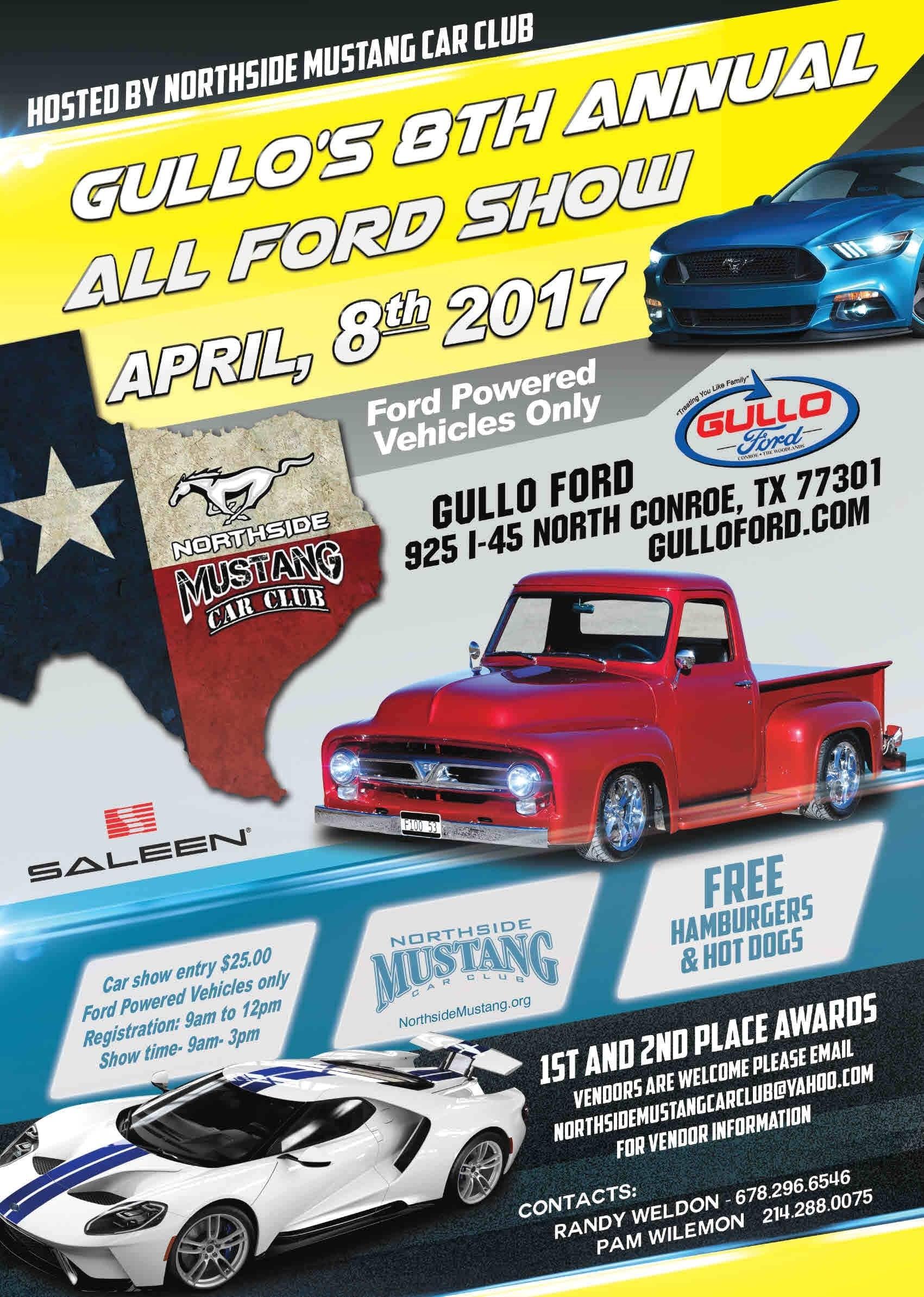 Gullo S 8th Annual All Ford Car Show Gullo Ford Of Conroe