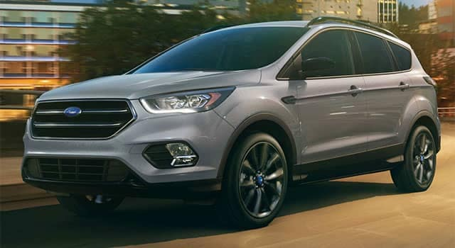 2018 Ford Escape driving through the city