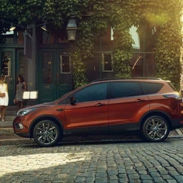 Picture of 2018 Ford Escape Parked on a brick road in a city