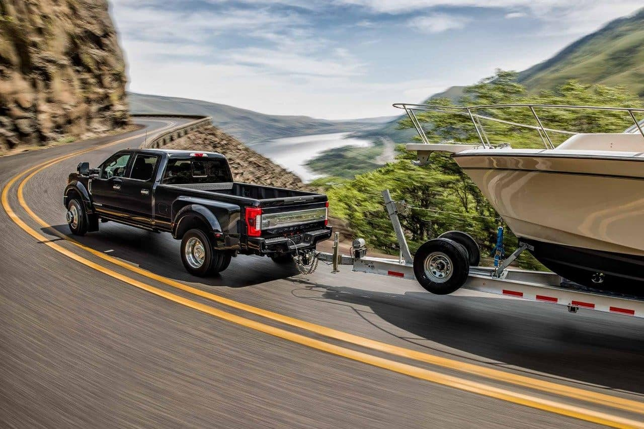 2018 Ford F-350 Towing Boat