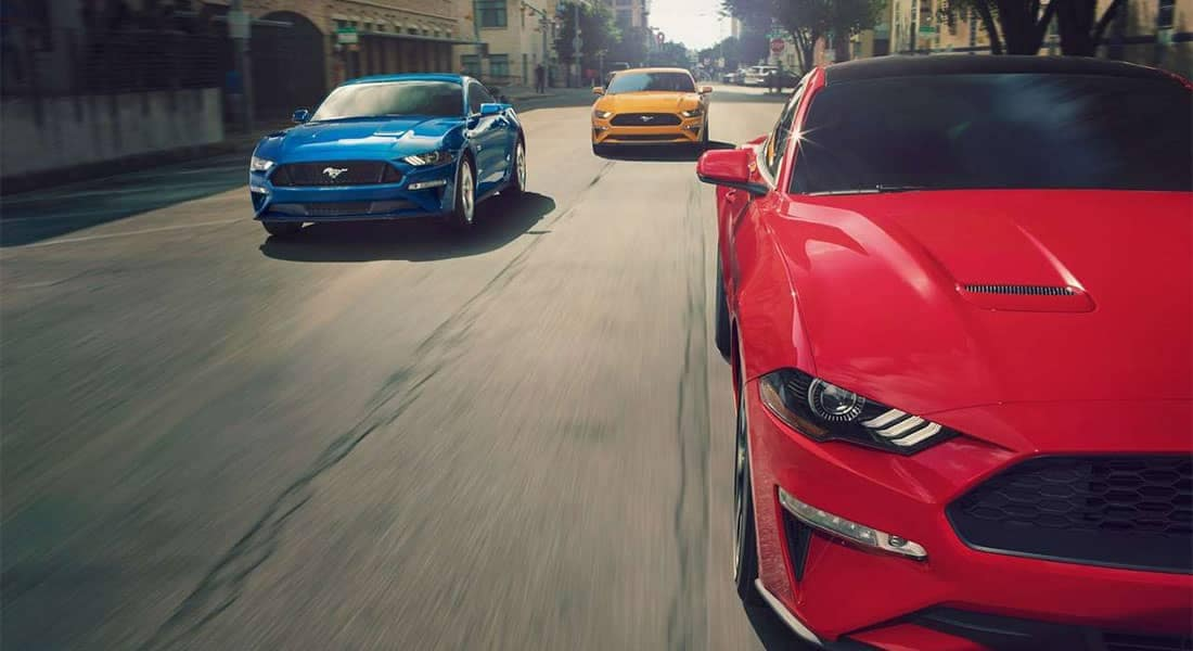 Picture of 2019 Ford Mustang models driving