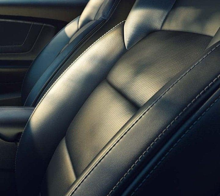 2019 Ford Mustang Interior with Black Leather Seats