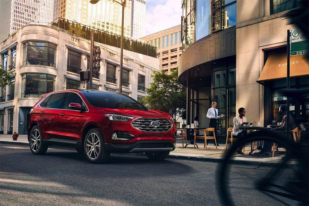 Picture of 2019 Ford Edge Driving Down Street