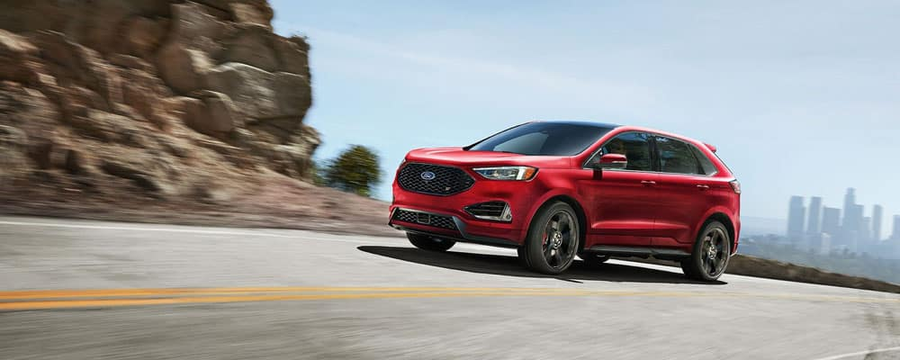 2019 Ford Edge Red Driving