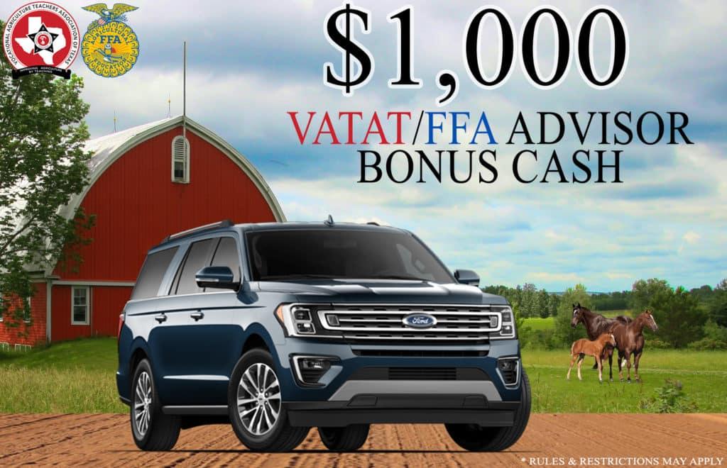 FFA VATAT Ford Bonus Cash