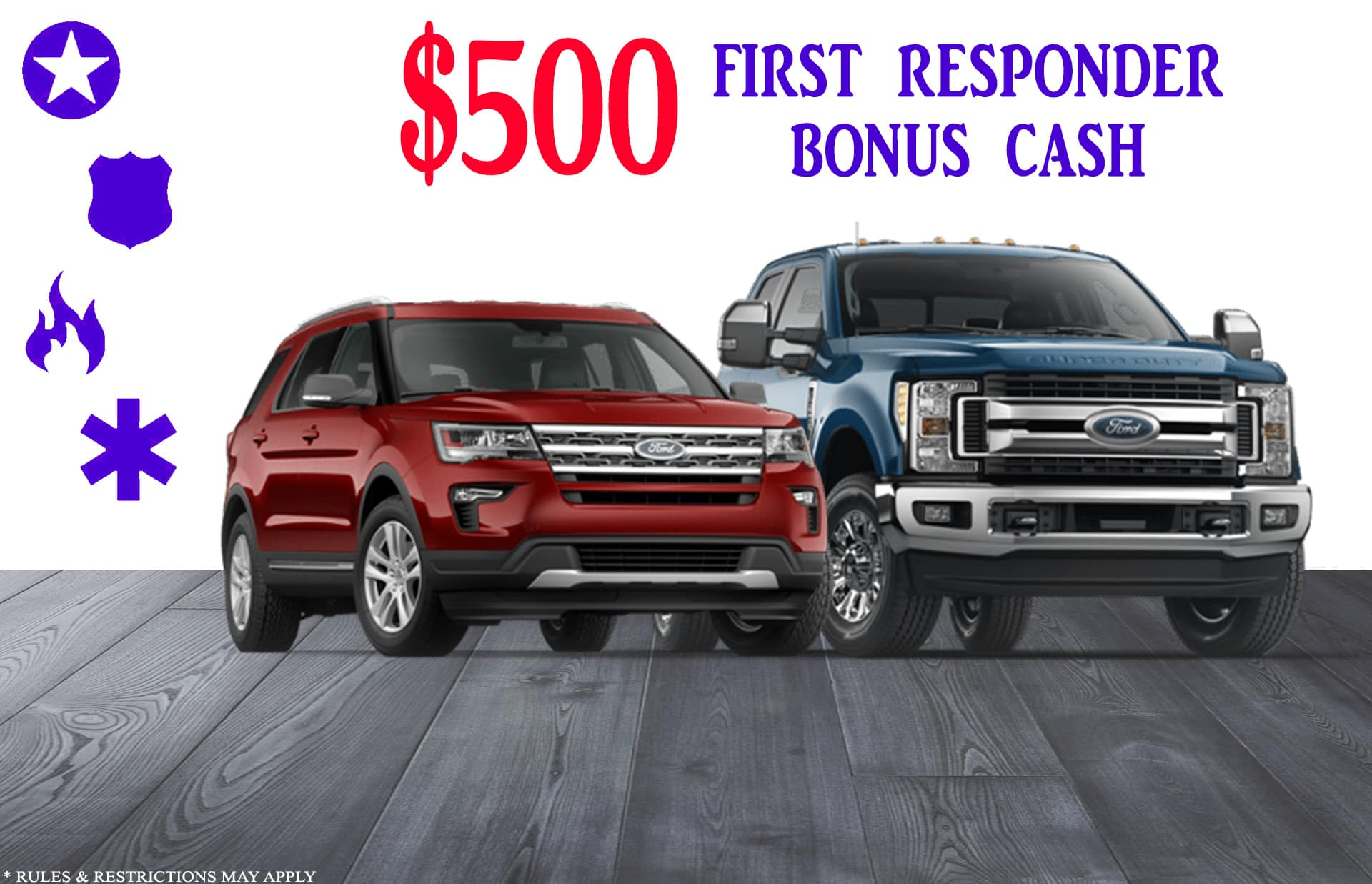 Ford First Responder >> First Responder Bonus Cash Gullo Ford Of Conroe